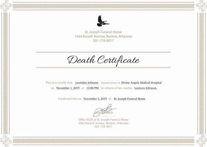 Blank Death Certificate Template Elegant 8 Death Certificate Templates Psd Ai Illustrator Word