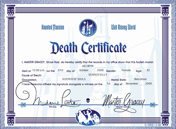 Blank Death Certificate Template Unique 7 Death Certificate Templates Psd Ai Illustrator Word