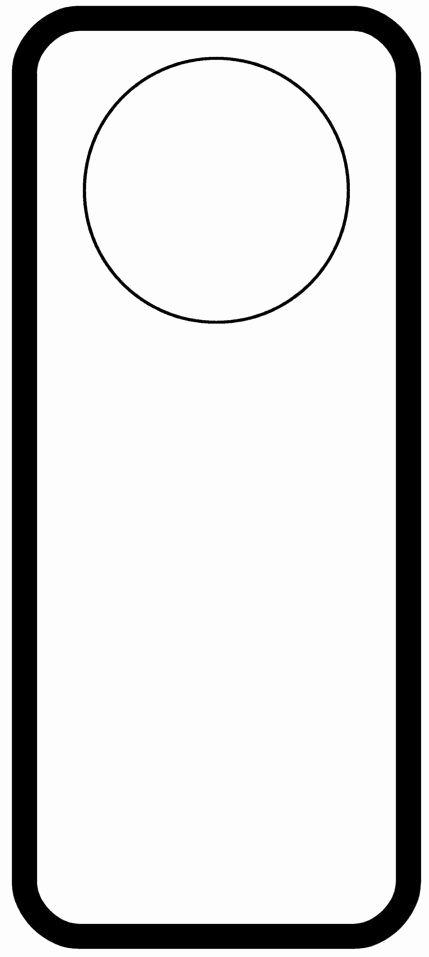 Blank Door Hanger Template Luxury Door Hanger Templates