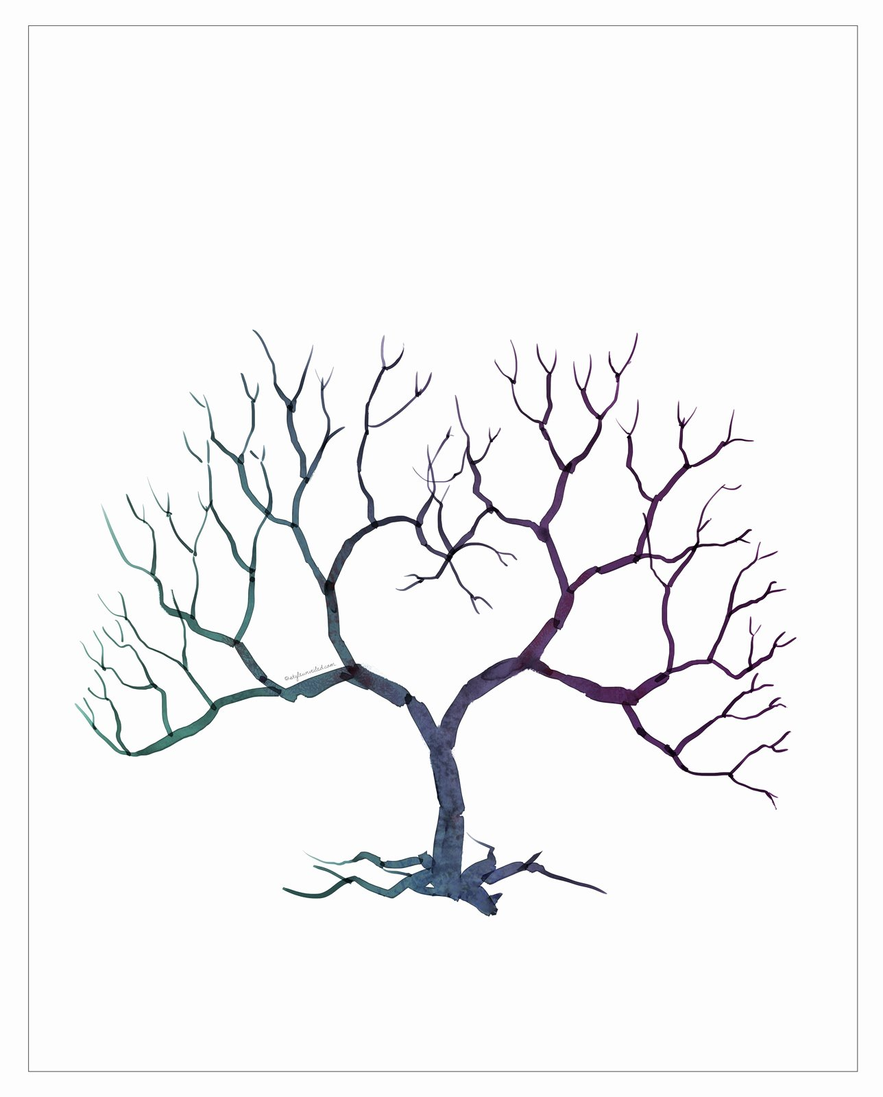 Blank Family Tree Book Fresh Floralisa Weddings and events Diy Fingerprint Tree