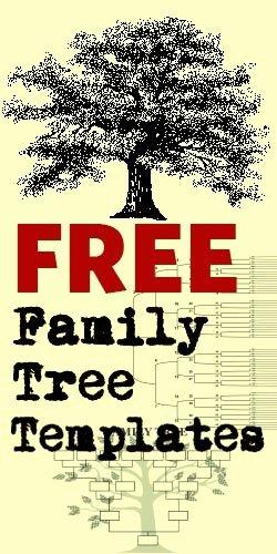 Blank Family Tree Book Fresh Free Family Tree Templates Crafts Pinterest