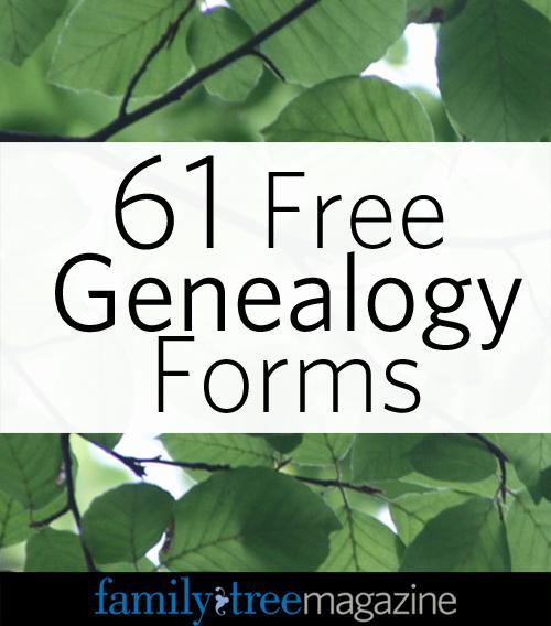 Blank Family Tree Book Inspirational 61 Free Genealogy forms Genealogy