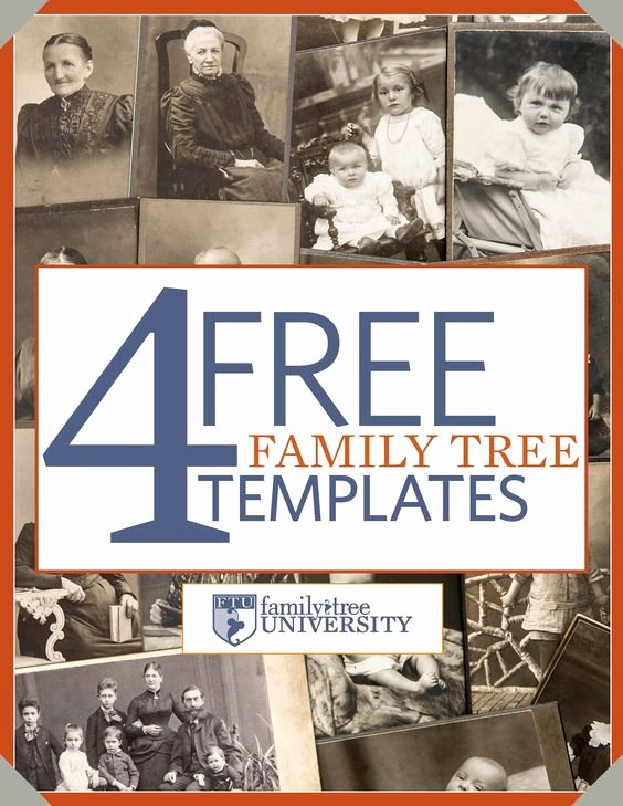 "Blank Family Tree Book Lovely Download Our Free Genealogy E Book ""4 Free Family Tree Templates """