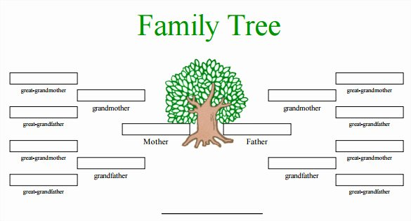 Blank Family Tree Book Luxury Blank Family Tree Template 32 Free Word Pdf Documents Download