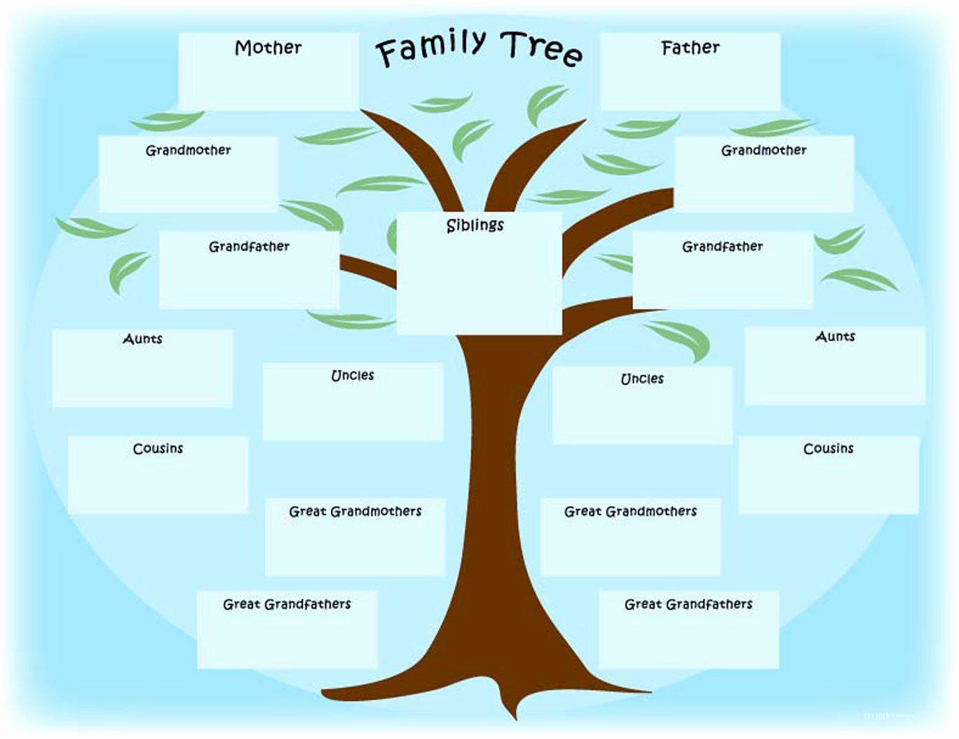 Blank Family Tree Book Unique Family Tree S – Weneedfun