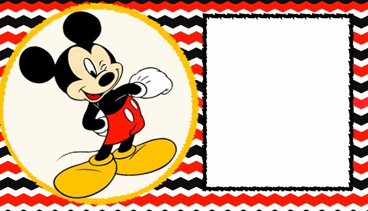 Blank Mickey Mouse Invitations Awesome Free Blank Mickey Mouse 1st Invitation Chevron Template