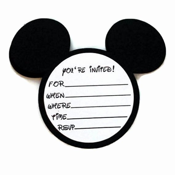 Blank Mickey Mouse Invitations Beautiful Blank Mickey Mouse Baby Shower Invitations