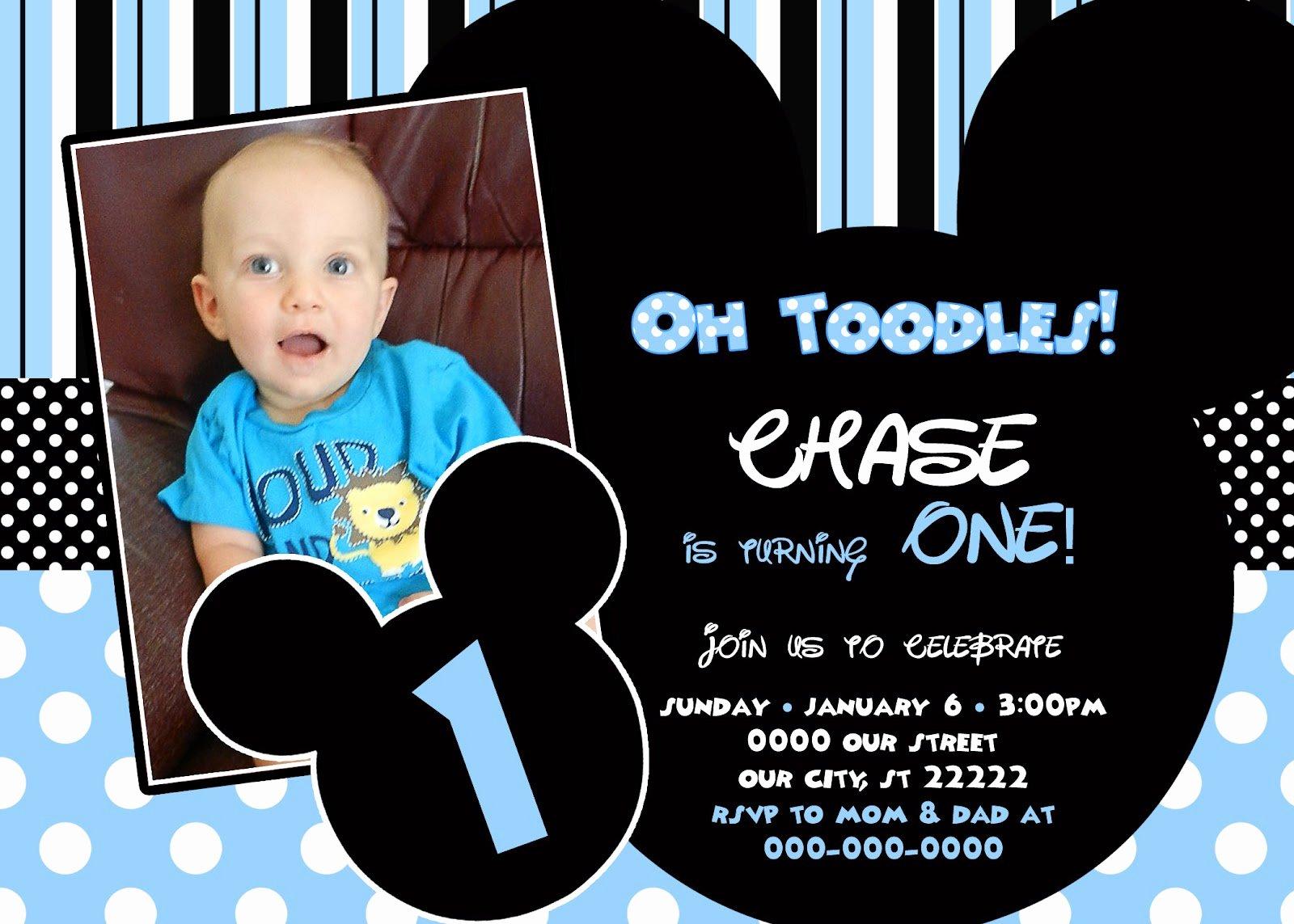 Blank Mickey Mouse Invitations Fresh Baby Mickey Invitation Templates