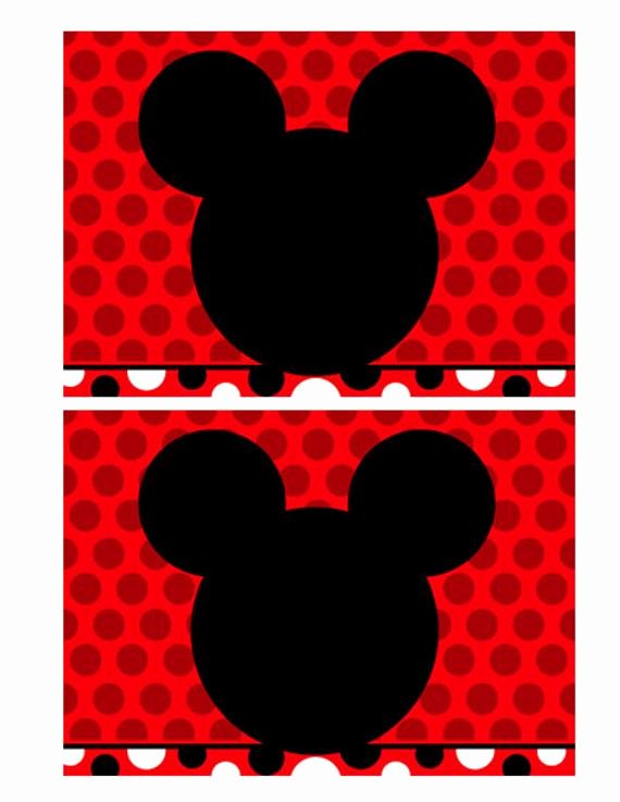 Blank Mickey Mouse Invitations Fresh Etsy Your Place to and Sell All Things Handmade