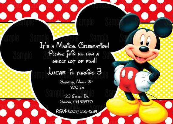 Blank Mickey Mouse Invitations Fresh Printable Mickey Mouse Invitation Plus Free Blank Matching