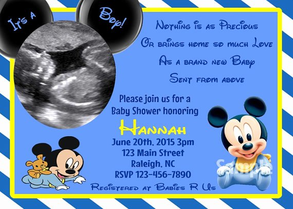 Blank Mickey Mouse Invitations Inspirational Blank Mickey Mouse Baby Shower Invitations