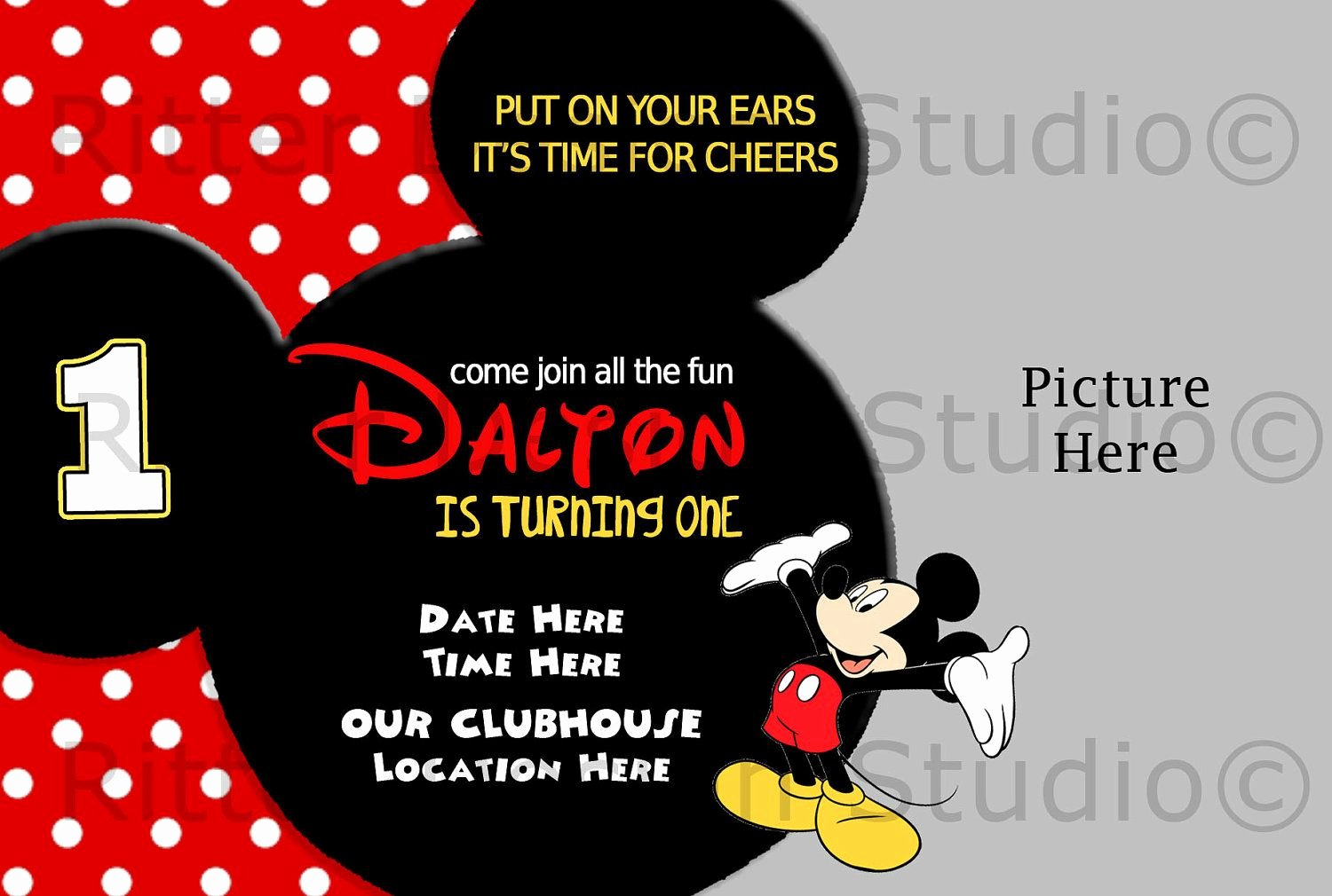 Blank Mickey Mouse Invitations Inspirational Printable Mickey Mouse Invitations Template