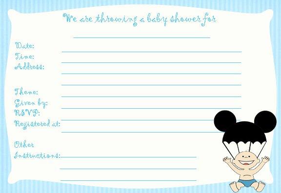 Blank Mickey Mouse Invitations Luxury Blank Mickey Mouse Baby Shower Invitations