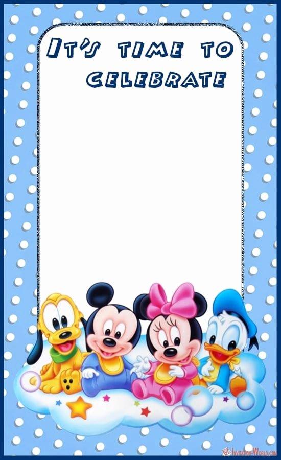 Blank Mickey Mouse Invitations New Mickey Mouse Birthday Invitation Templates