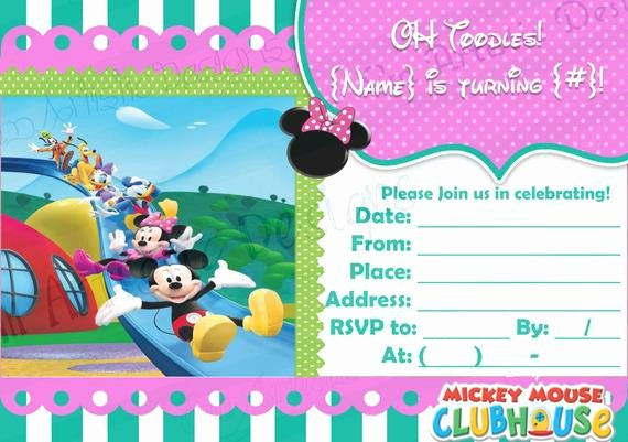 Blank Mickey Mouse Invitations Unique Items Similar to Digital Download Girly Mickey Mouse