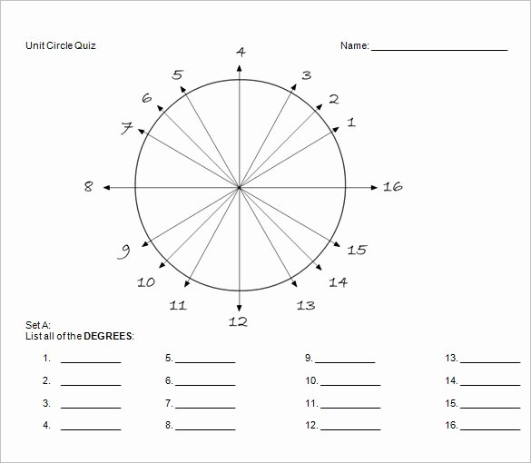 Blank Unit Circle Pdf Beautiful Unit Circle Chart Template – 20 Free Word Pdf format Download