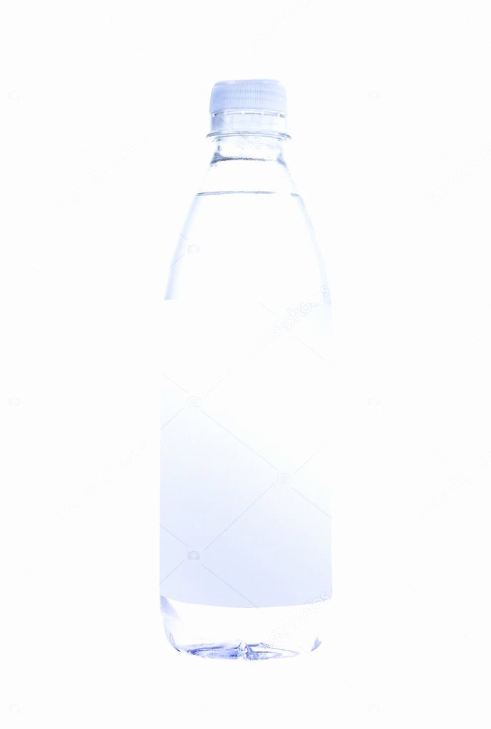 Blank Water Bottle Labels Fresh Water Bottle with Blank Label — Stock © Ozaiachinn