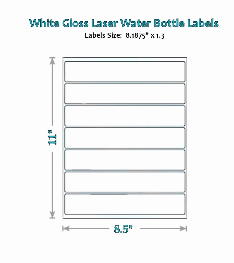 Blank Water Bottle Labels Luxury 49 Blank Water Bottle Label Glossy Wrappers Party New