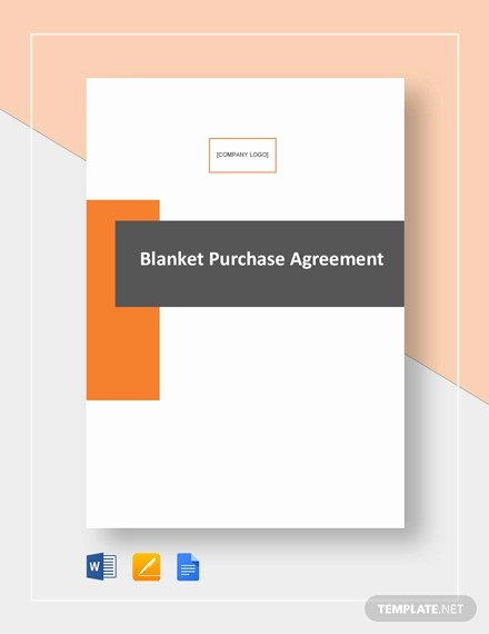 Blanket Purchase order Template Fresh Free 10 Sample Purchase Agreement forms In Word Pdf