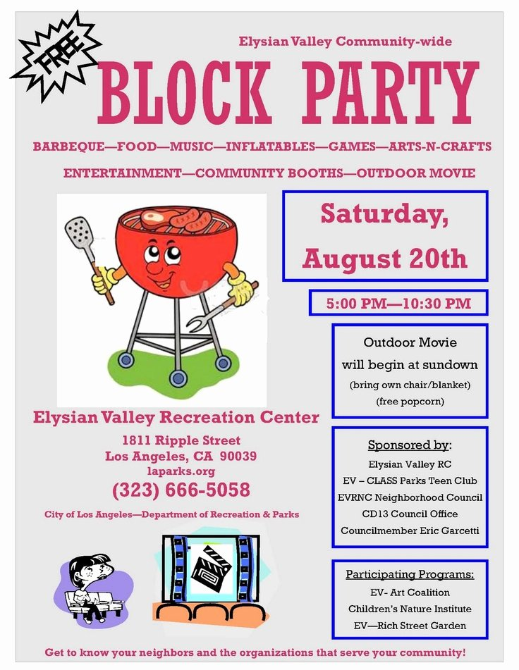 Block Party Flyer Template Beautiful Block Party Flyer 2011 Block Party