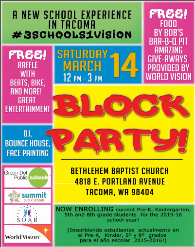 Block Party Flyer Template Beautiful Block Party Flyer Green Dot Public Schools Washington State