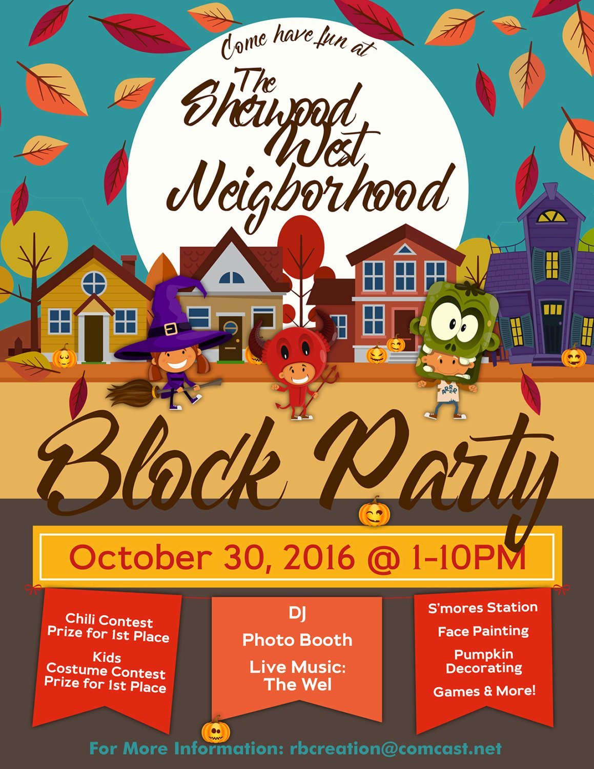 Block Party Flyer Template Beautiful Block Party Flyer Halloween Fall Flyer Autumn Flyer Truck