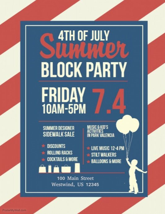 Block Party Flyer Template Beautiful Copy Of Block Party
