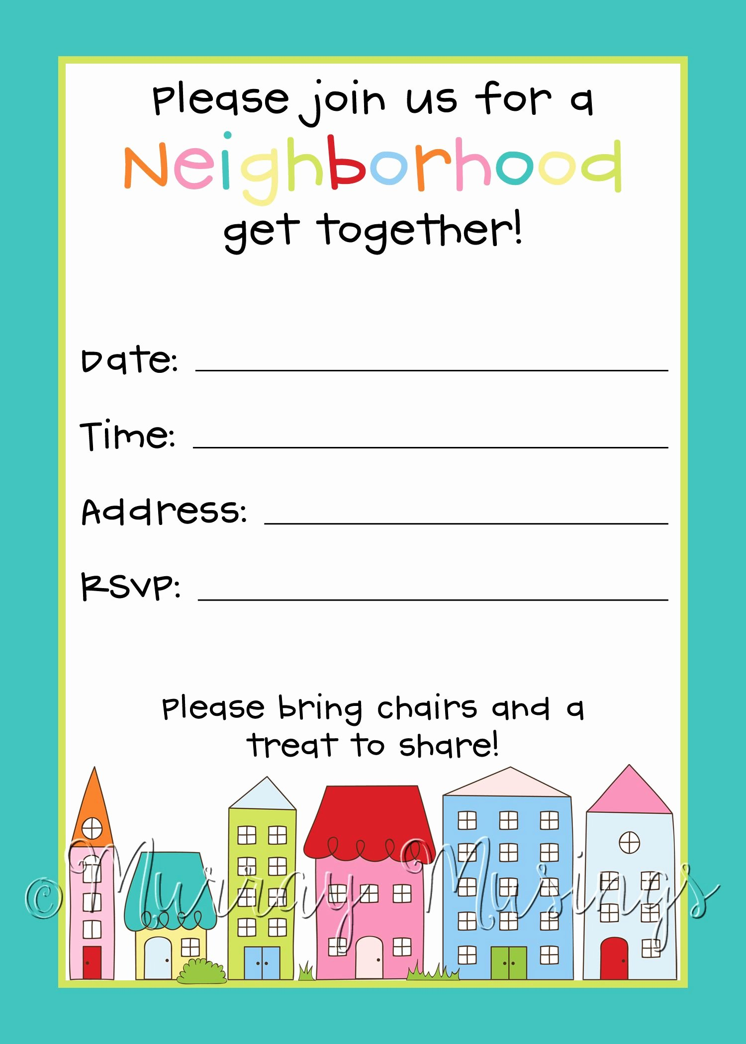 Block Party Flyer Template Elegant Neighborhood Block Party Invitation Freeprintable Block Party Pinterest