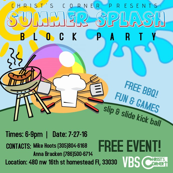 block party s poster template
