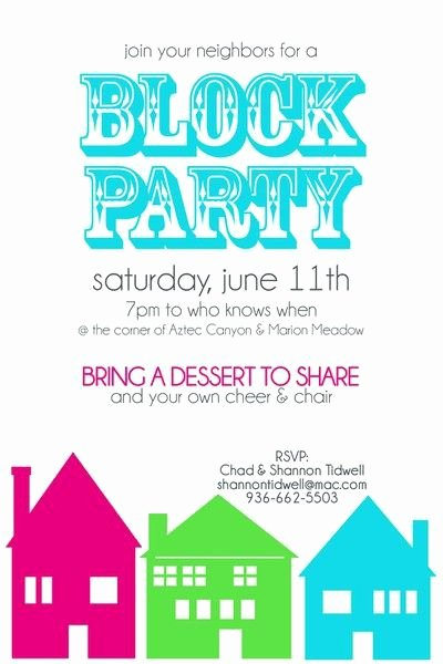 Block Party Flyer Template Free Fresh Block Party Invitation Two Peas In A Bucket Cute Wrapping N Invites