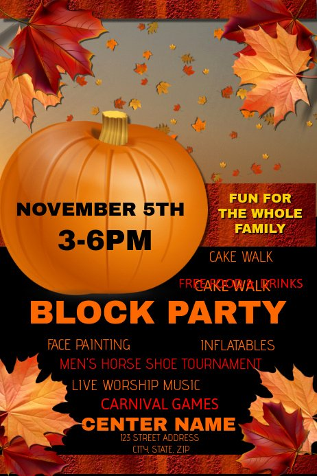 Block Party Flyer Template Free Fresh Block Party Template