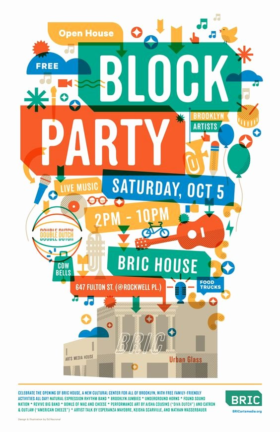 Block Party Flyer Template Free Fresh Poster Block Party and Art Types On Pinterest