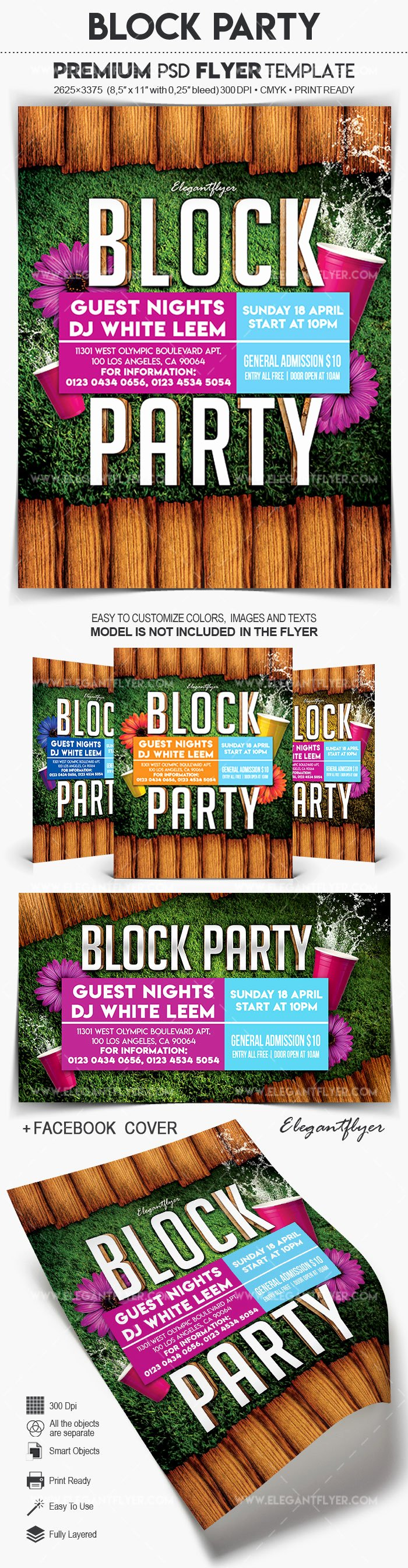 Block Party Flyer Template Free Lovely Block Party – Flyer Psd Template – by Elegantflyer
