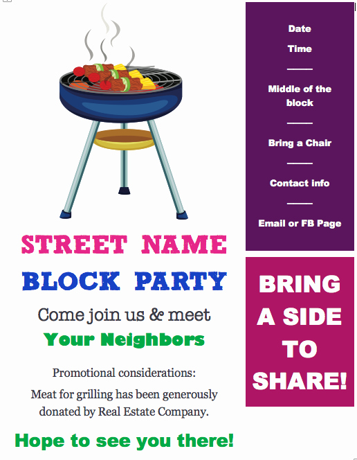 Block Party Flyer Template Free New Free Block Party Flyer Template