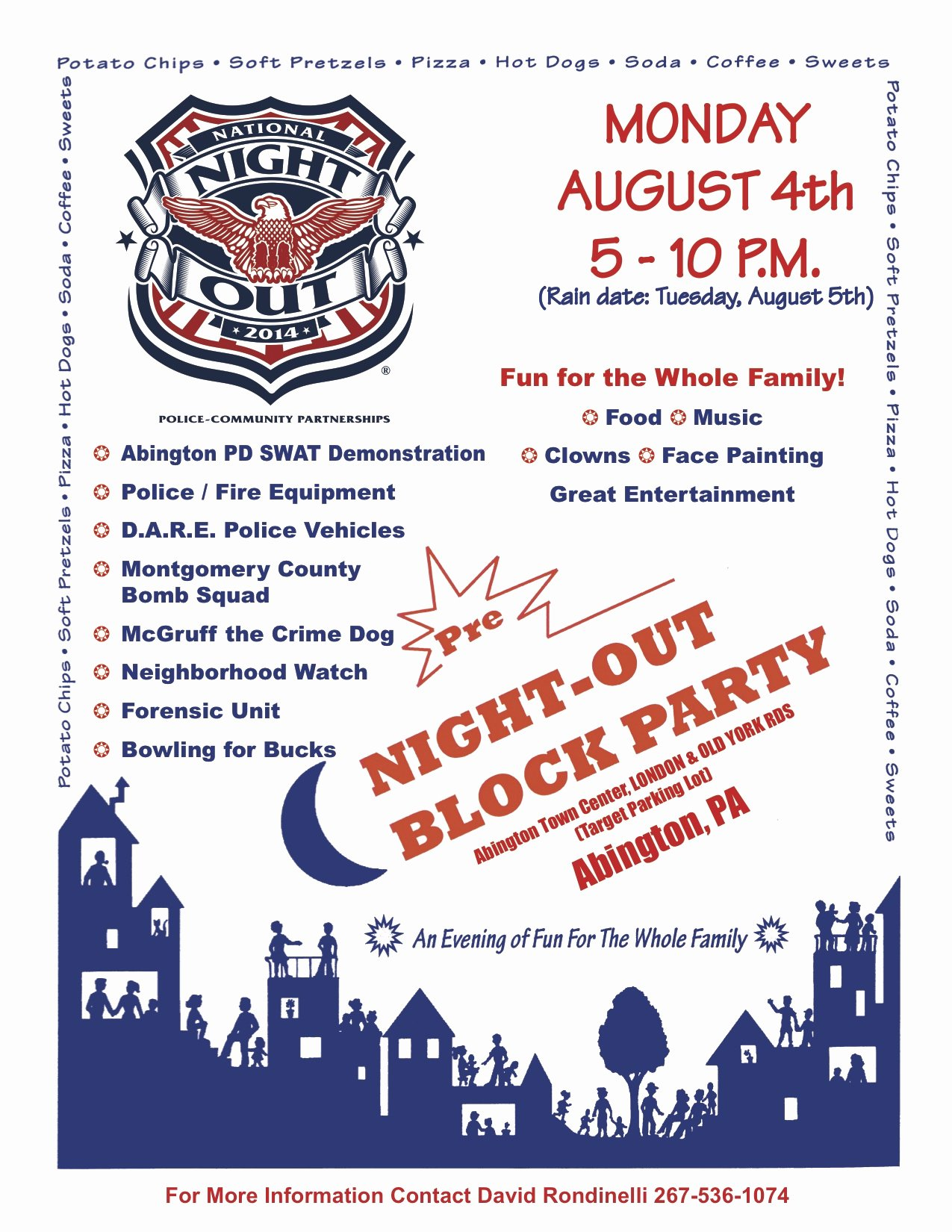 Block Party Flyer Template Free Unique Pre National Night Out Block Party