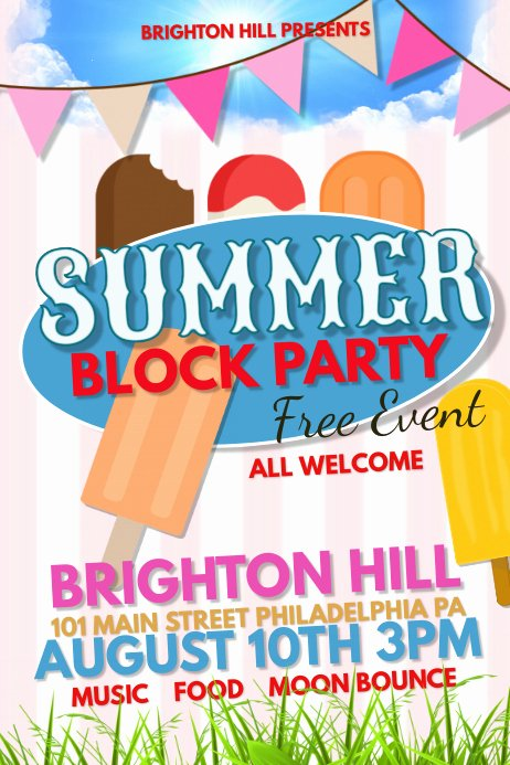 Block Party Flyer Template Lovely Summer Block Party Template