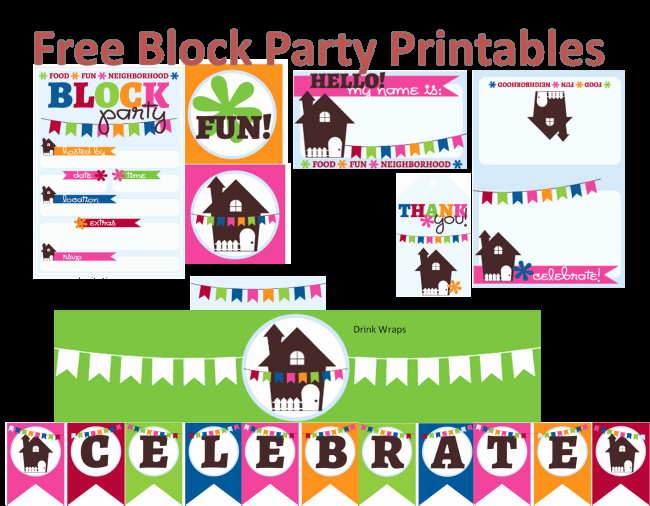 Block Party Flyer Template Luxury Neighborhood Block Party Printables Free Block Party