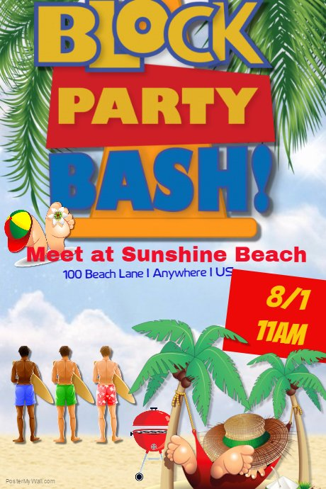 Block Party Flyer Template New Summer Block Party Bash Template