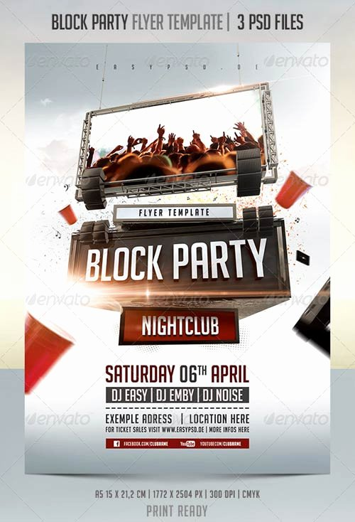Block Party Flyer Template Unique Graphicriver Block Party Flyer Template