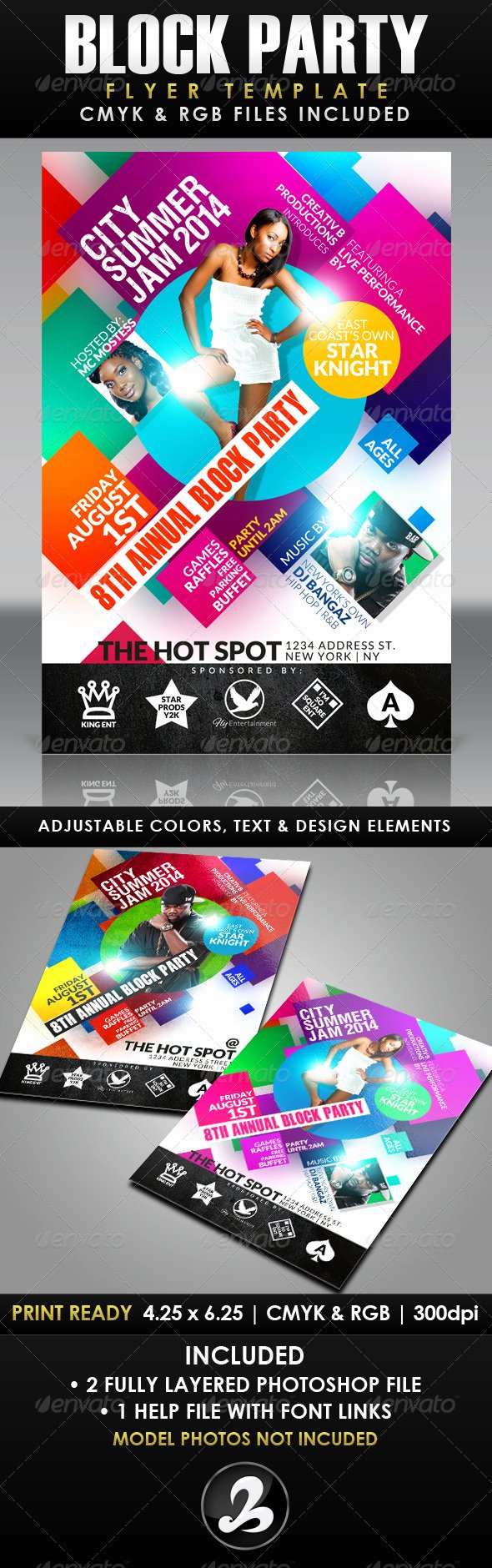 Block Party Flyer Templates Awesome Block Party Flyer Template Psd