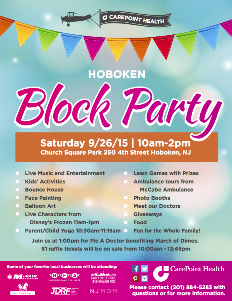 Block Party Flyer Templates Awesome Carepoint Health Block Party Saturday September 26th – Hoboken Family Alliance