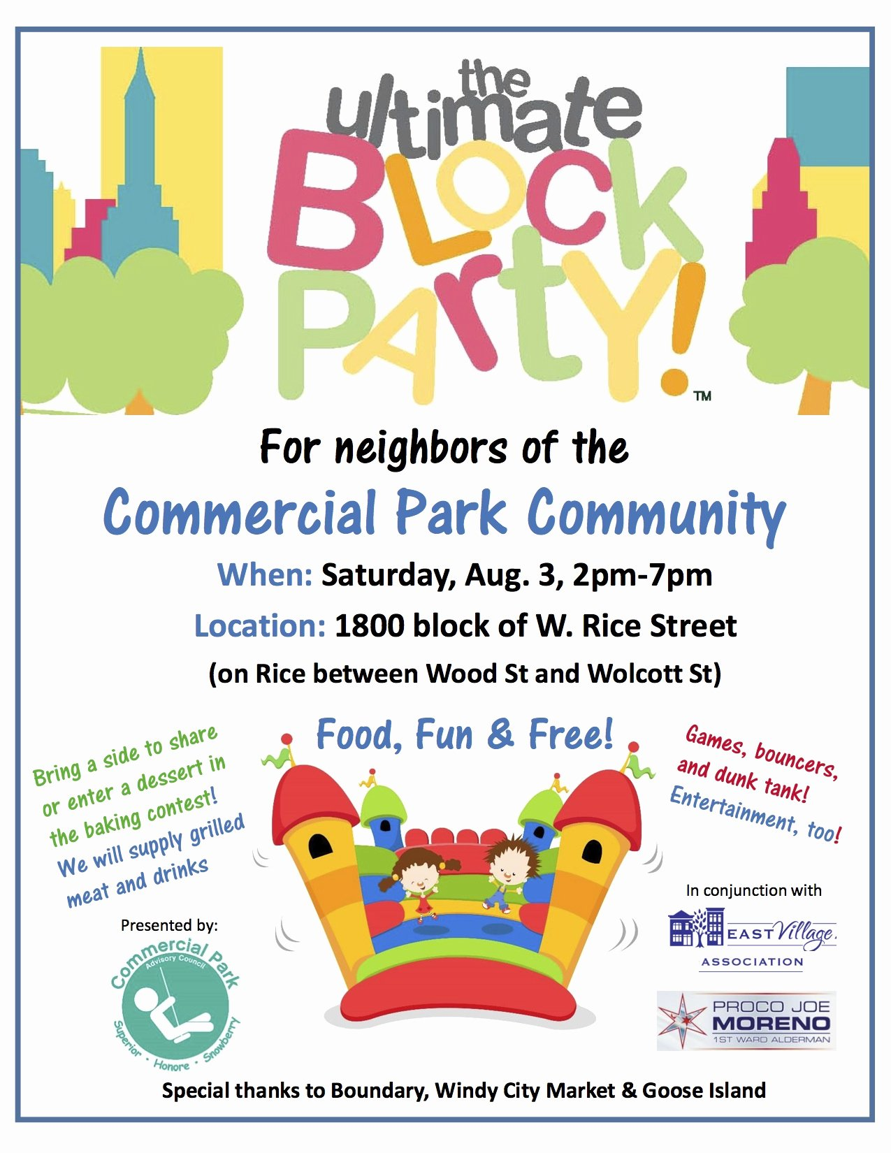 Block Party Flyer Templates Free Fresh Mercial Park Munity Block Party is Back – Saturday Aug 3 2pm 7pm