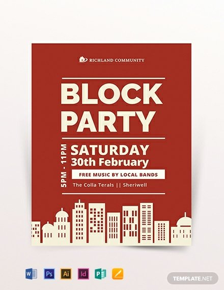 Block Party Flyer Templates Free Lovely Free Employee Bbq Party Flyer Template Download 1335 Flyers In Psd Illustrator Word