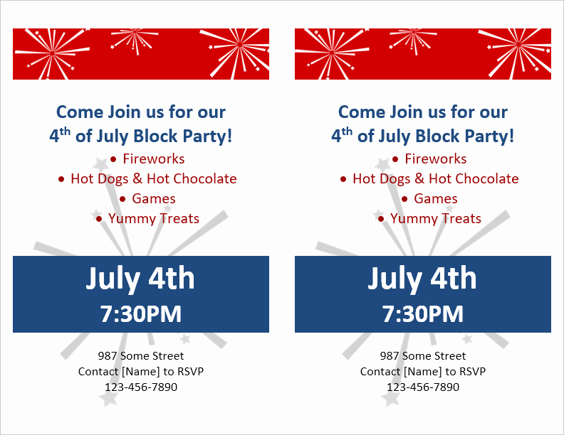 Block Party Flyer Templates Free Lovely Party Flyer Template for Word