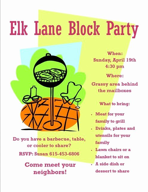 Block Party Flyer Templates Free Luxury How to organize A Neighborhood Block Party