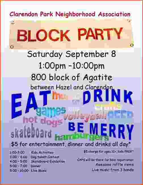 Block Party Flyer Templates Free New 4 Block Party Flyer Template Bookletemplate