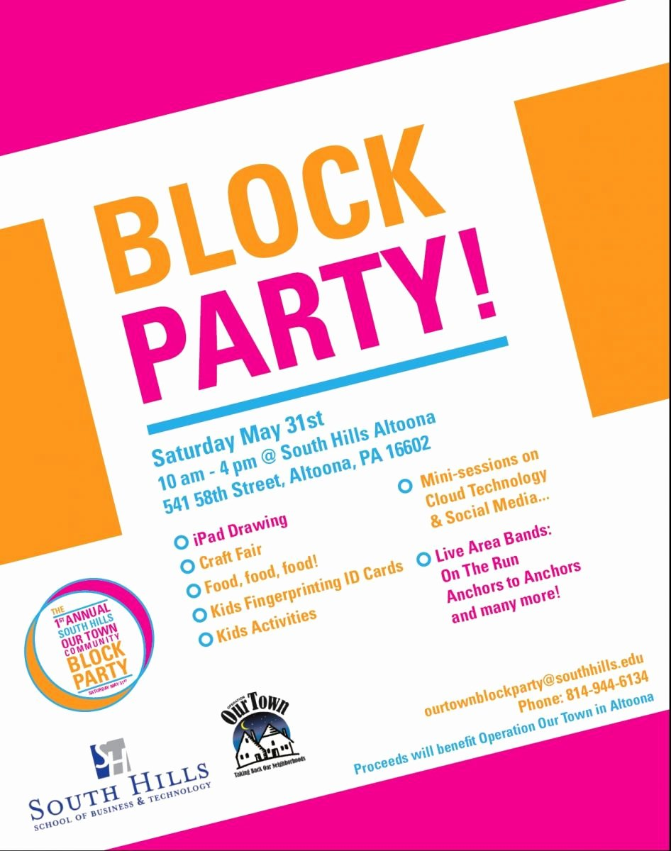 Block Party Flyer Templates Free New Munity Block Party May 31