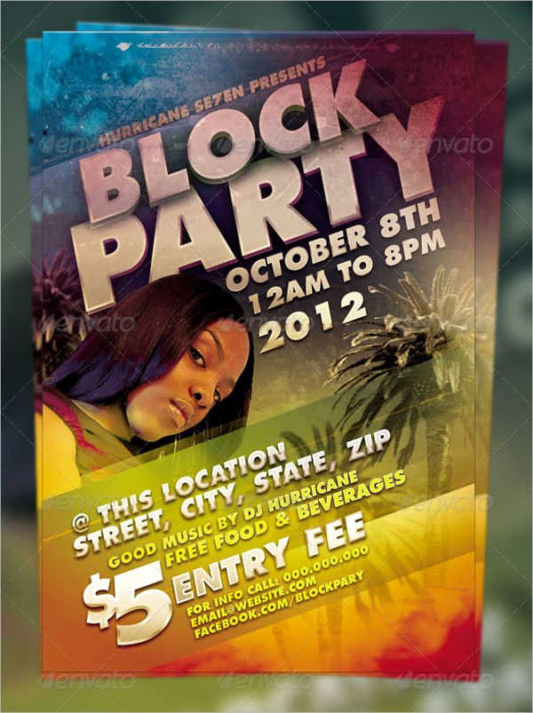 Block Party Flyer Templates Free New Party Flyer Examples