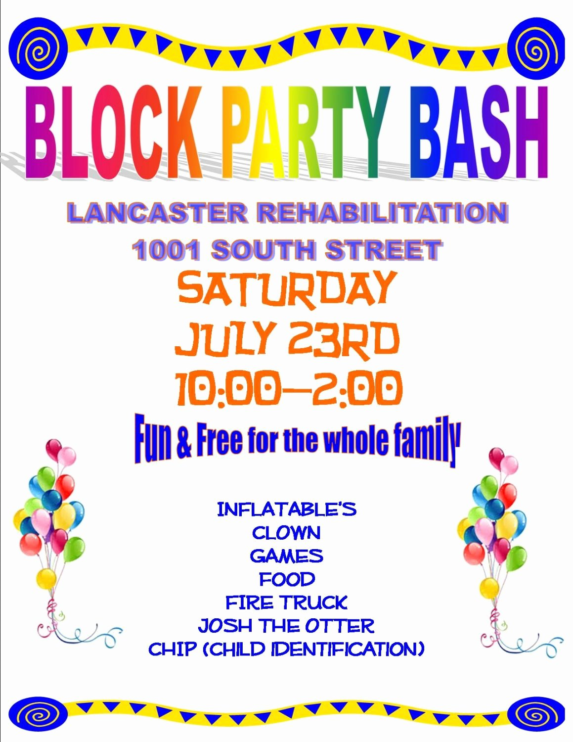 Block Party Flyer Templates Free Unique Block Party Flyer