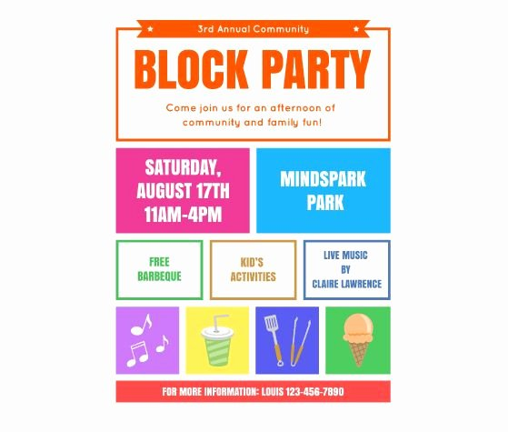 Block Party Flyer Templates Free Unique Download This Block Party Flyer Template and Other Free Printables From Myscrapnook
